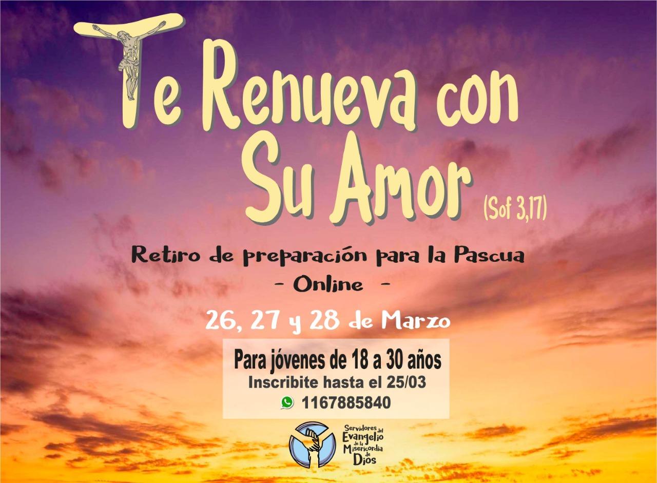 Retiro de Prepascua on line en Argentina