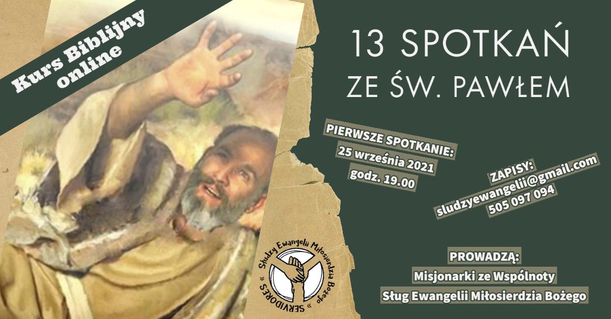 Kurs biblijny ONLINE – św. Paweł (od 25.09.21)